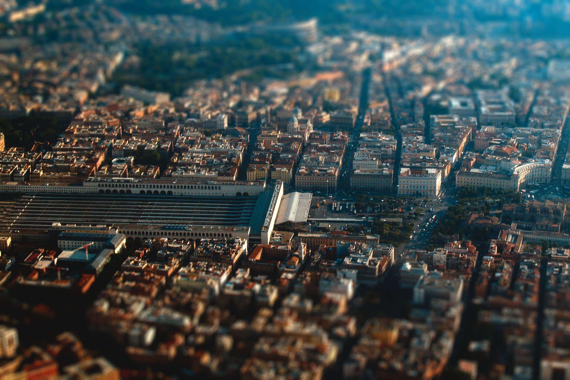 Stazione Termini dall'alto