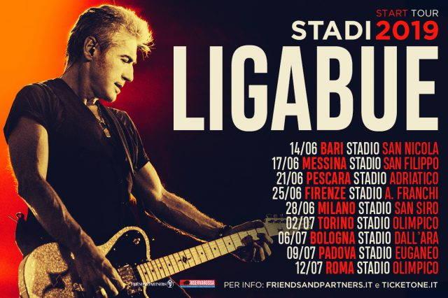 Ligabue in concerto a Roma allo Stadio Olimpico venerdi 12 Luglio 2019.